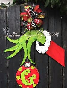Image result for Grinch Hand Template for Door | Christmas ...