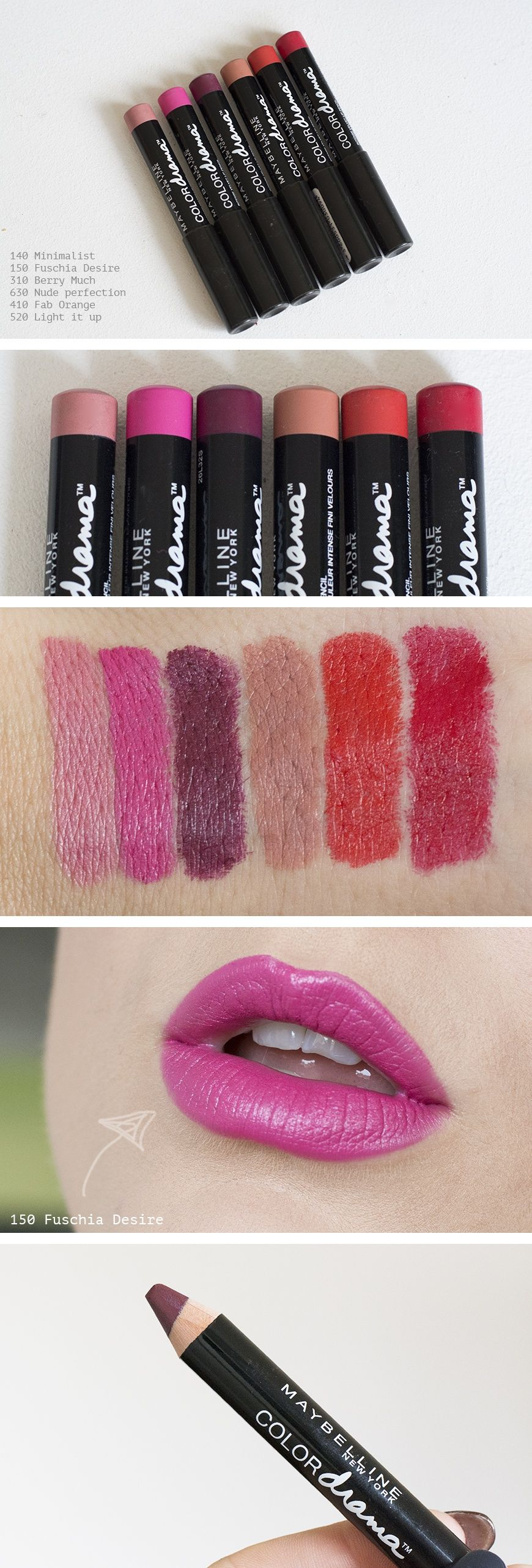 Maybelline Color Drama, I honestly want to buy every single shade