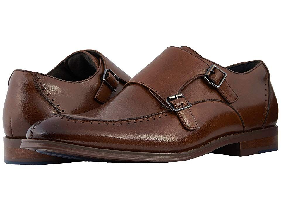 Stacy Adams Baldwin Cognac Mens Shoes Maintain your contemporary look with the polished Stacy Adams Baldwin loafer Leather upper with perforated detailing along trim Doub...