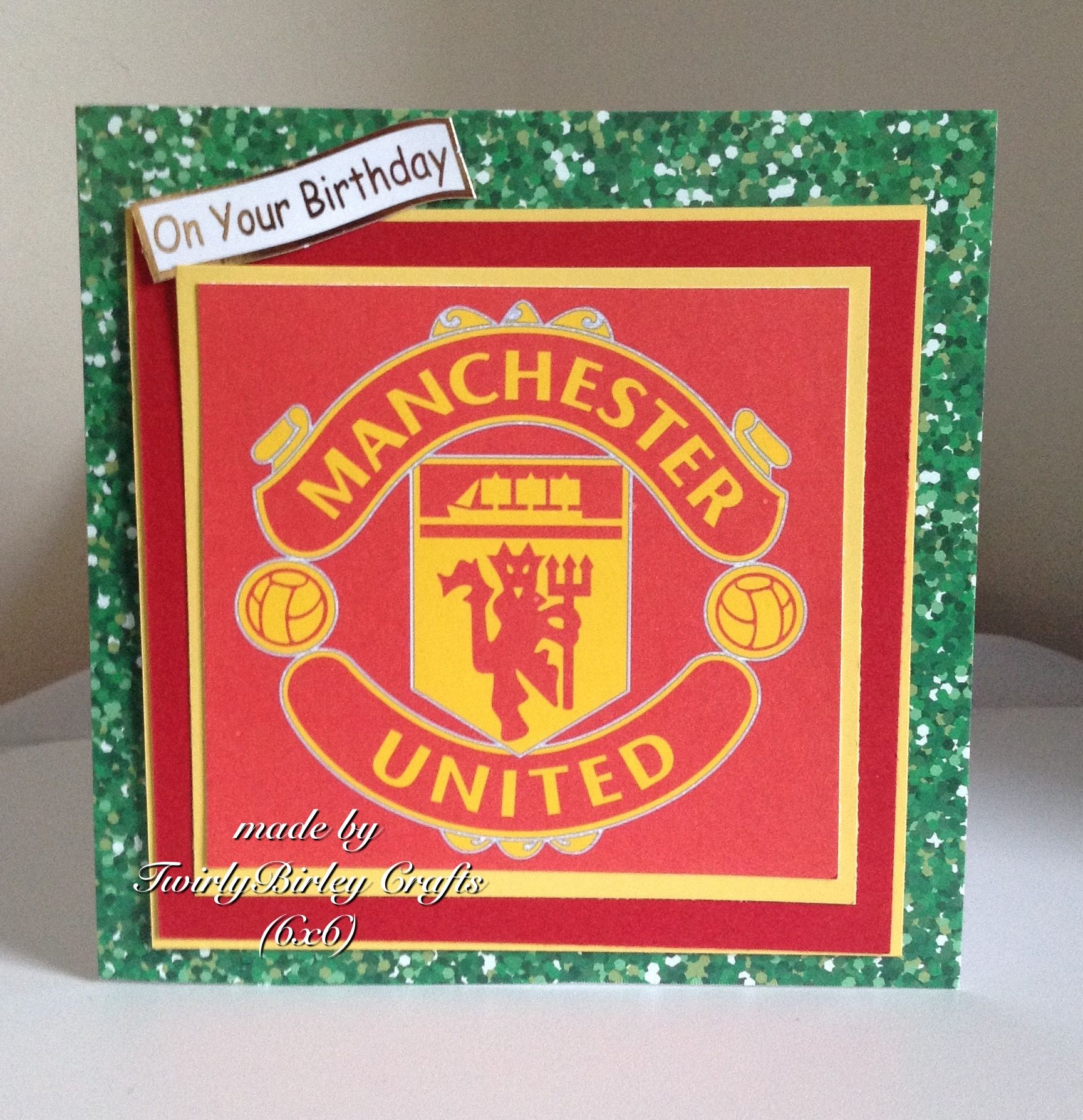 Manchester United Birthday Card Themed Cards Male Cards Birthday Cards