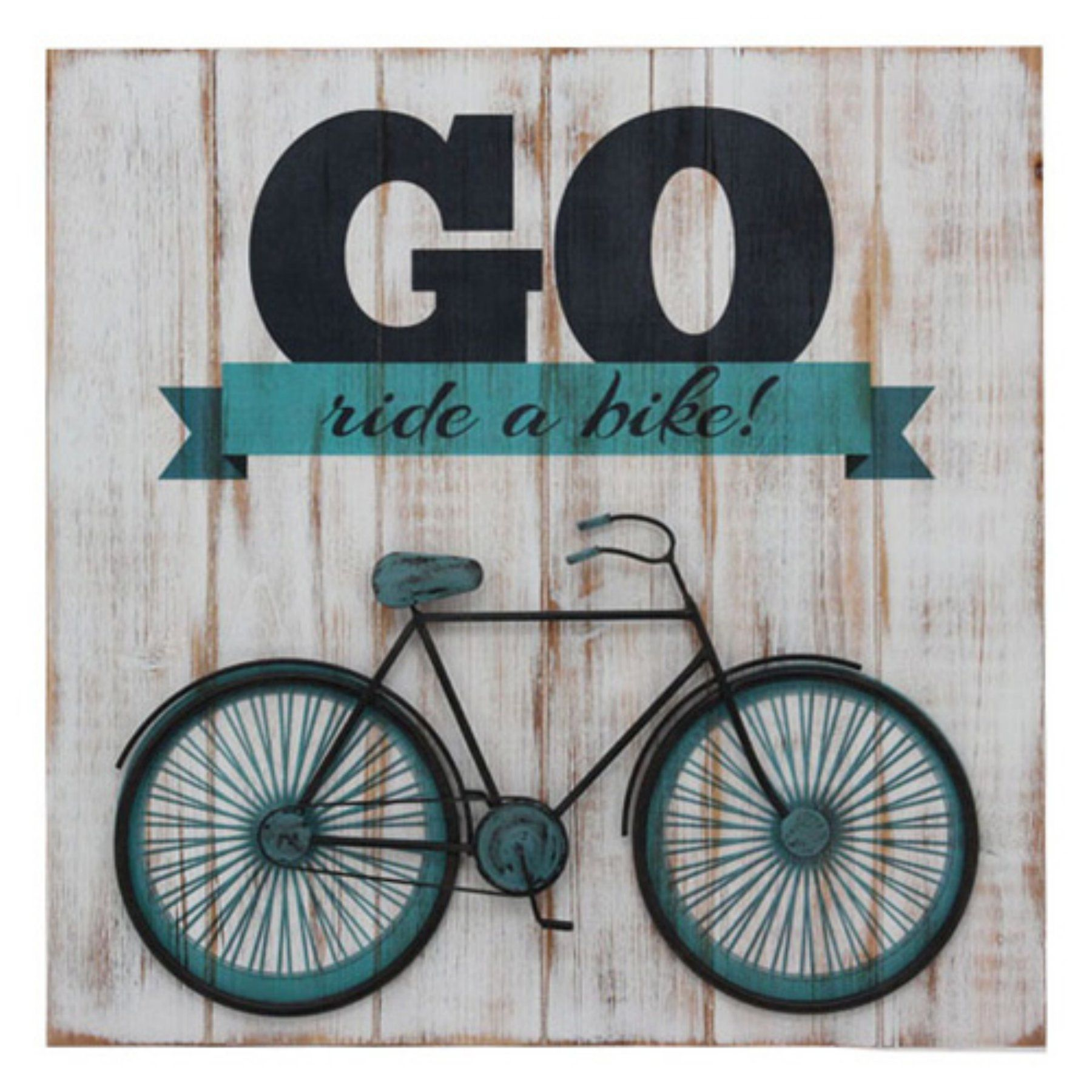 Sagebrook Home Wooden Bicycle Wall Art - 11080
