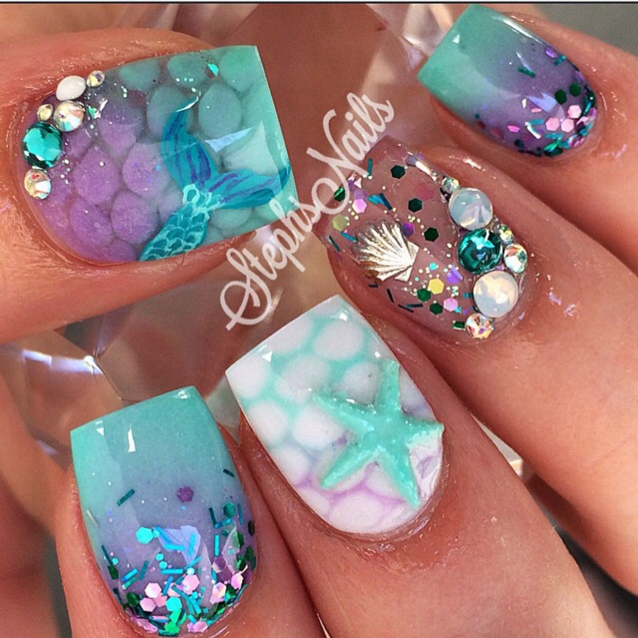 Pin By Kimmy Latisa On Candydandy With Images Mermaid Nails Cute Nails Nail Art Designs