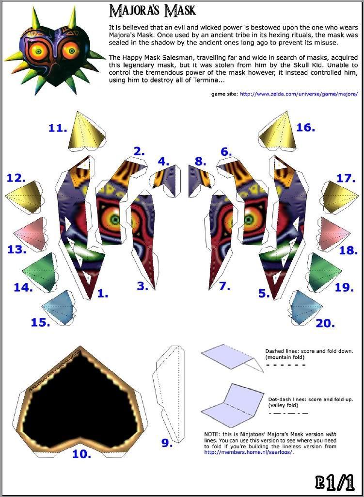 Majora Mask By Papercrafter10 Deviantart Com On