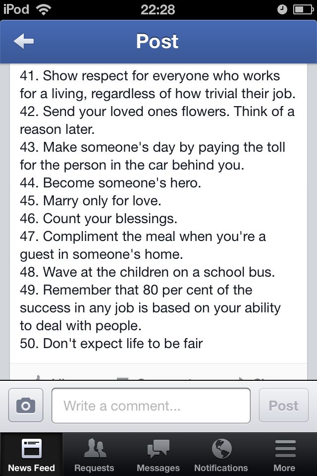 Advice from an 80 year old (taken from Facebook)