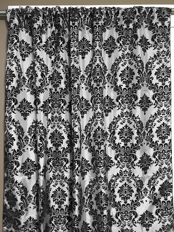 Creative window coverings  zen creative designs black white damask curtain backdrop u wide