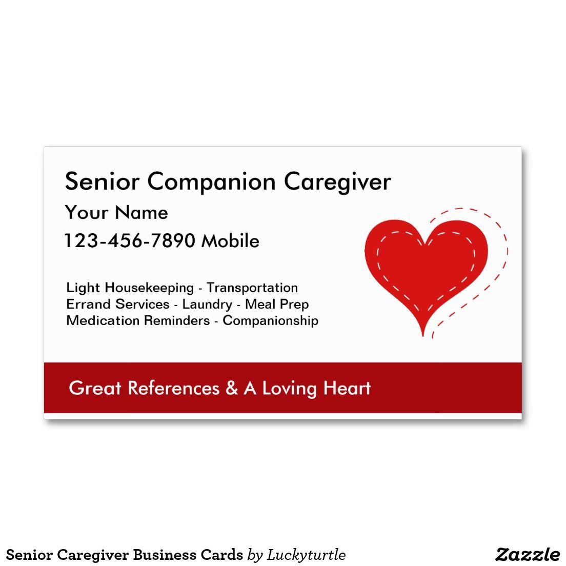 Senior Caregiver Business Cards | Business cards and Business
