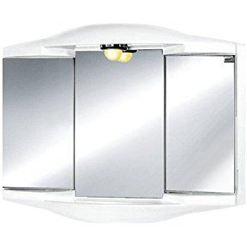 Chico Gl Mirrored Bathroom Cabinet White De Küche Haushalt