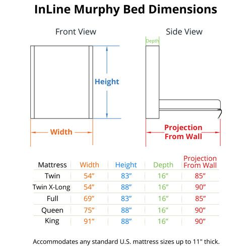 InLine Murphy Bed Dimensions