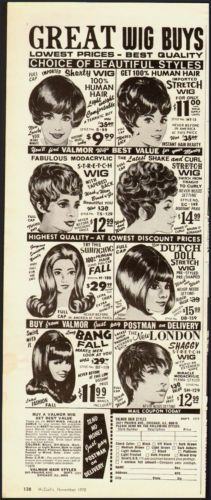 1970 vintage ad valmor wigs