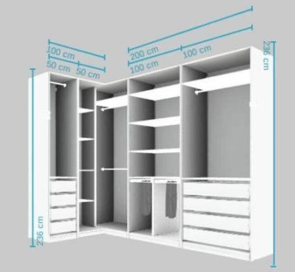 Closet Layout 500040364876819309 -  58 Ideas bedroom wardrobe corner walk in #bedroom Source by calouze