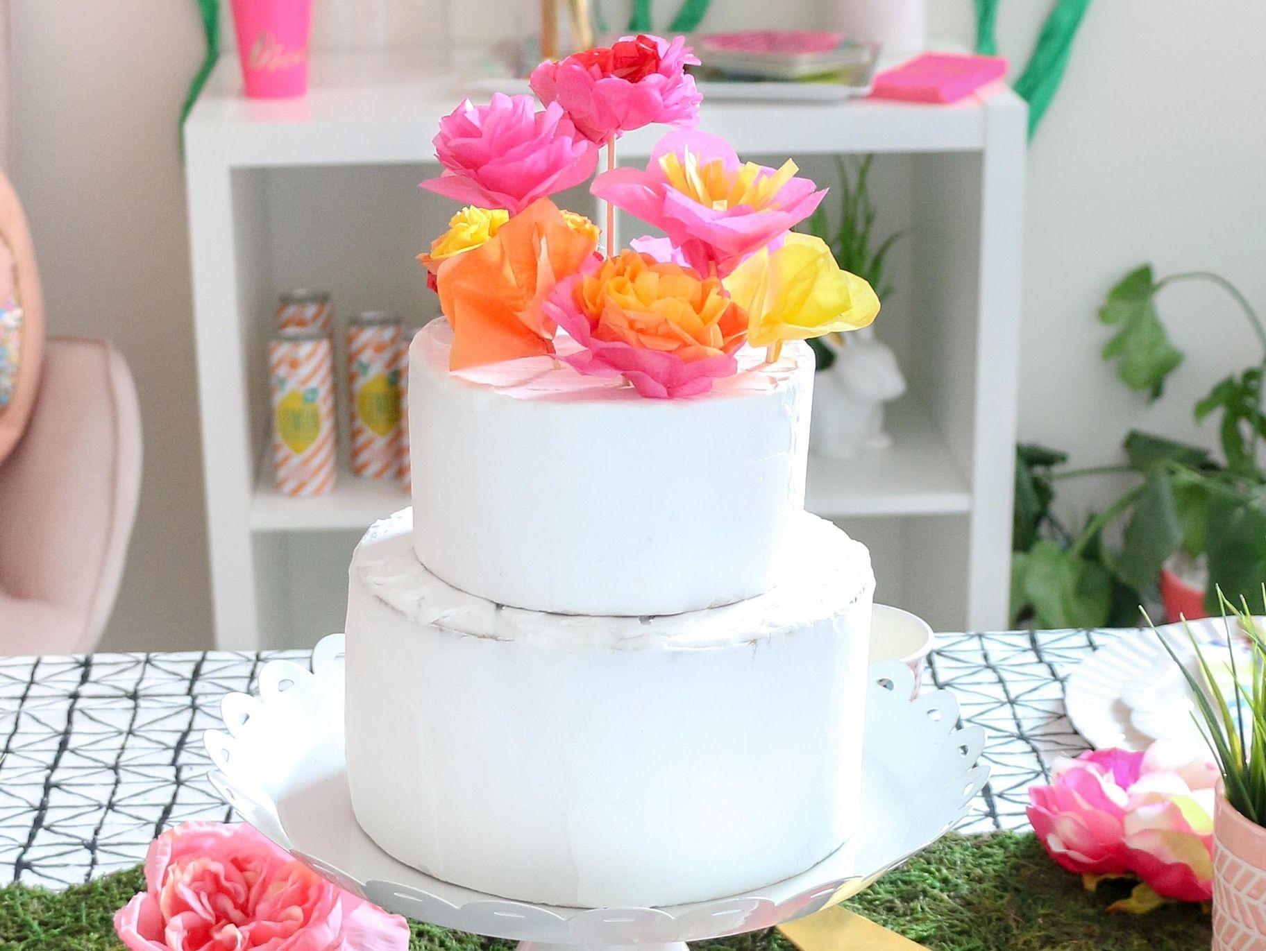 Diy flower cake toppers flower cake toppers diy flowers