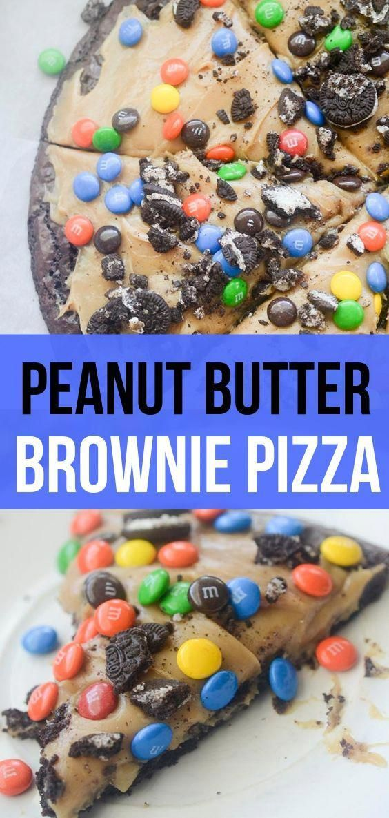 I combined peanut butter and brownies to make this ultimate peanut butter brownie pizza.