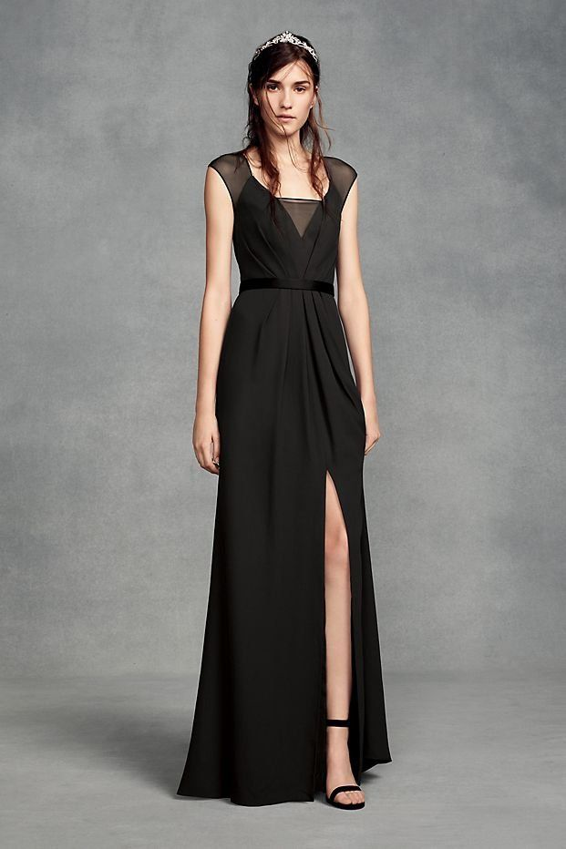 David's Bridal Black Bridesmaid Dresses