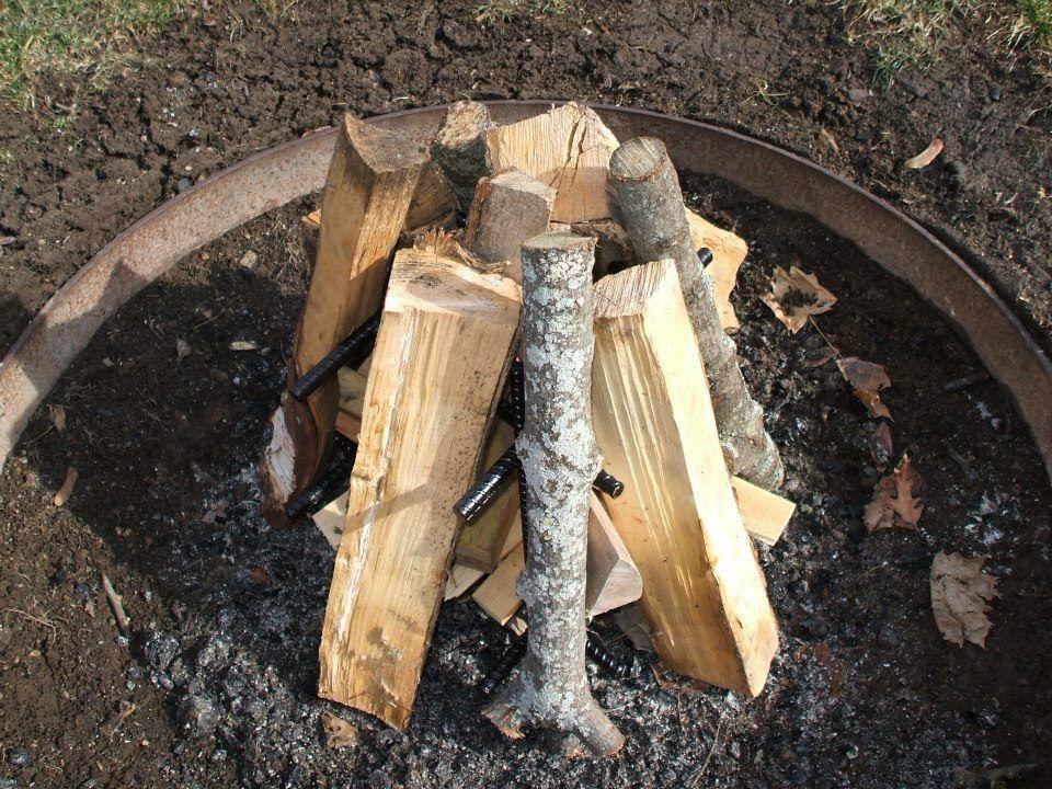 Log Teepee firewood setup | Firewood, Outdoor, Wood
