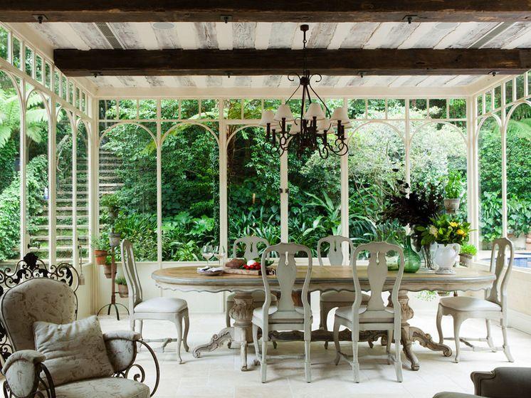 Traditional Sunroom by Marylou Sobel Interior Design