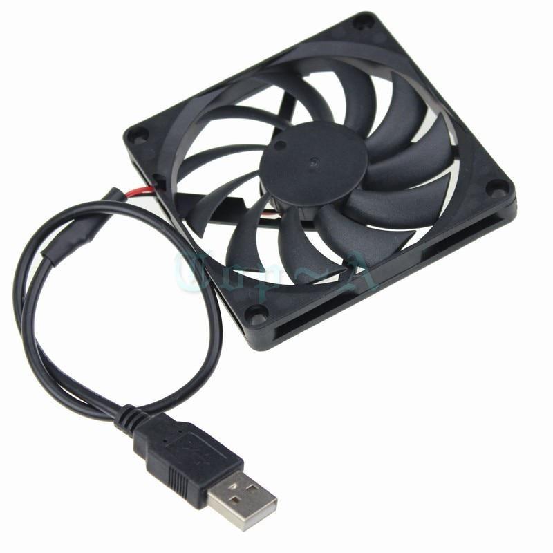 Gdstime 2 Pcs Usb Powered 5v 80mm Dc Brushless Cooling Fan