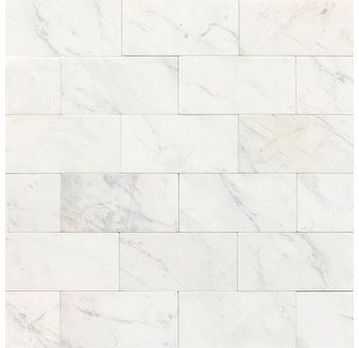 Marble Contempo White 6 X 3 Honed Stone Multi Surface Tile Daltile Marble Wall Tiles Flooring