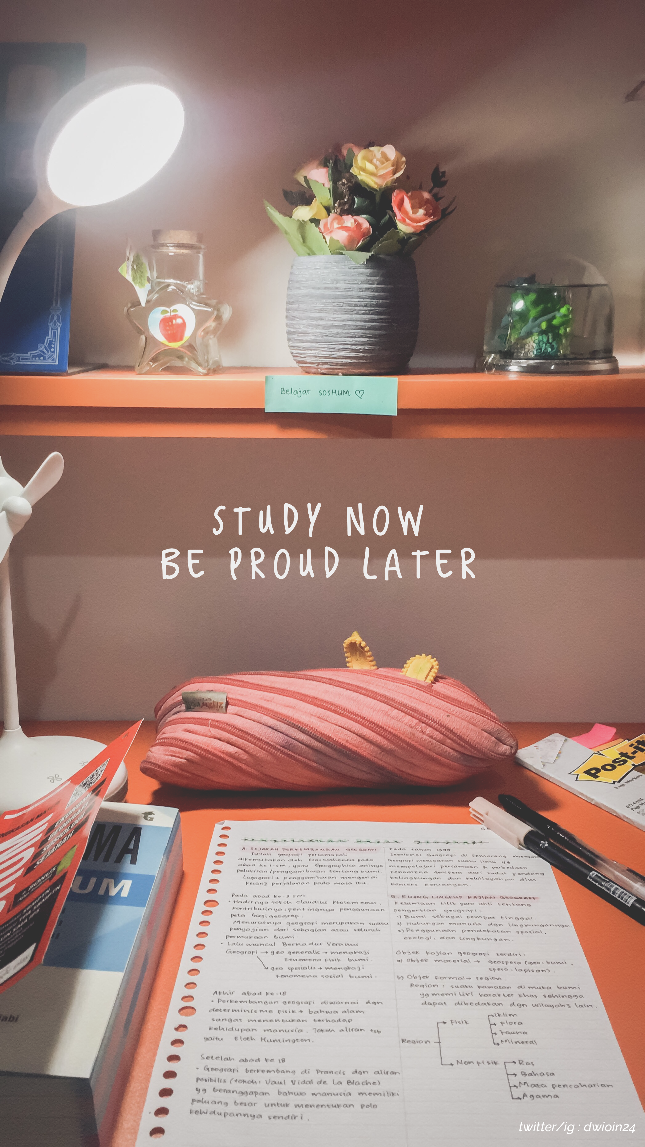 hi follow me on instagram twitter dwioin study studygram