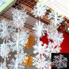 30 Pcs branco do floco de neve ornamento do feriado do natal Festival partido Home Decor 2MYZ 6N2M(China (Mainland))