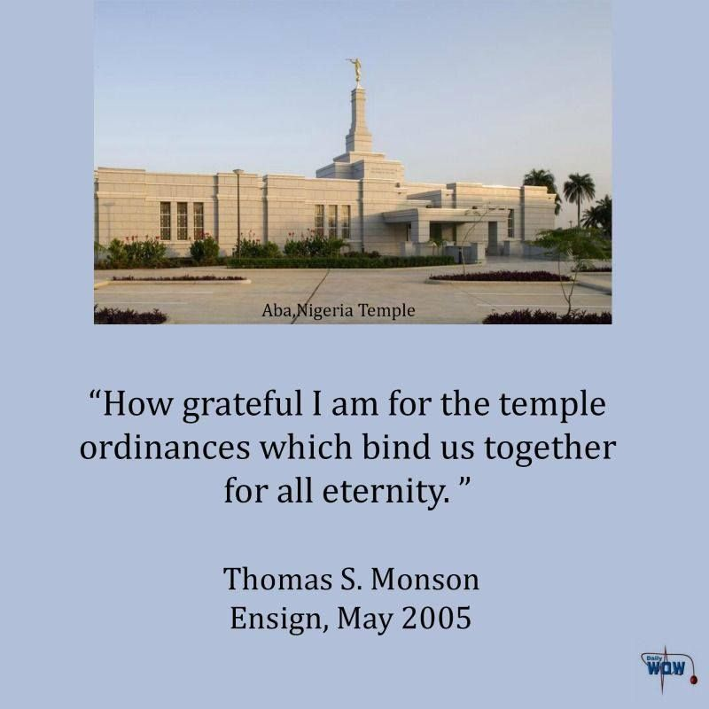 """""""How Grateful I Am For The Temple Ordinances Which Bind Us"""