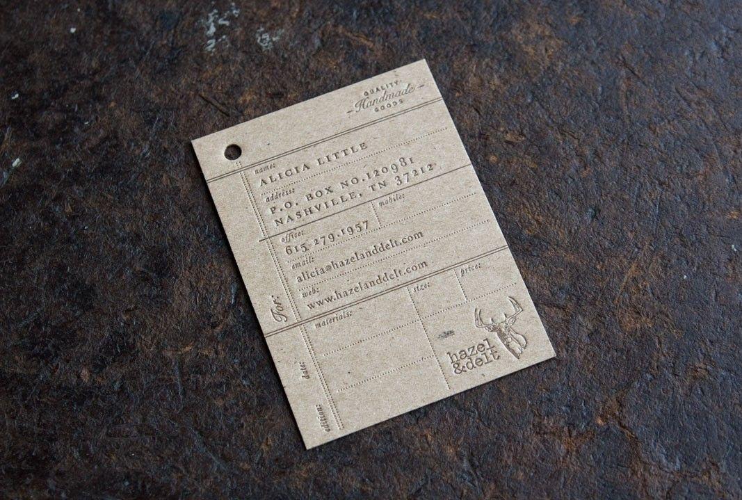 Hazel & Delt business card | Designer: Perky Bros LLC - http://www.perkybros.com