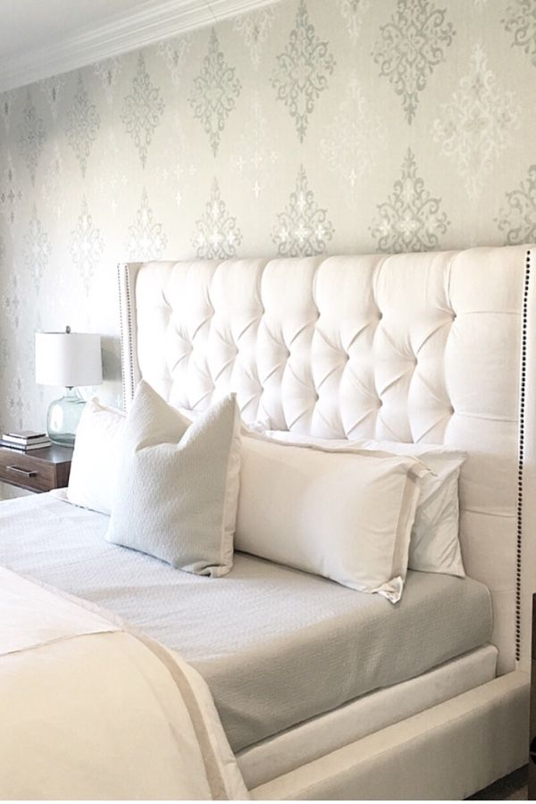 carolineondesign Pottery Barn Harper Tufted high bed. Ivory Tufted ...