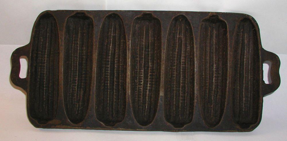Ear CORN STICK PAN Muffin Mold CORNBREAD VINTAGE Cast Iron PAN COB ...