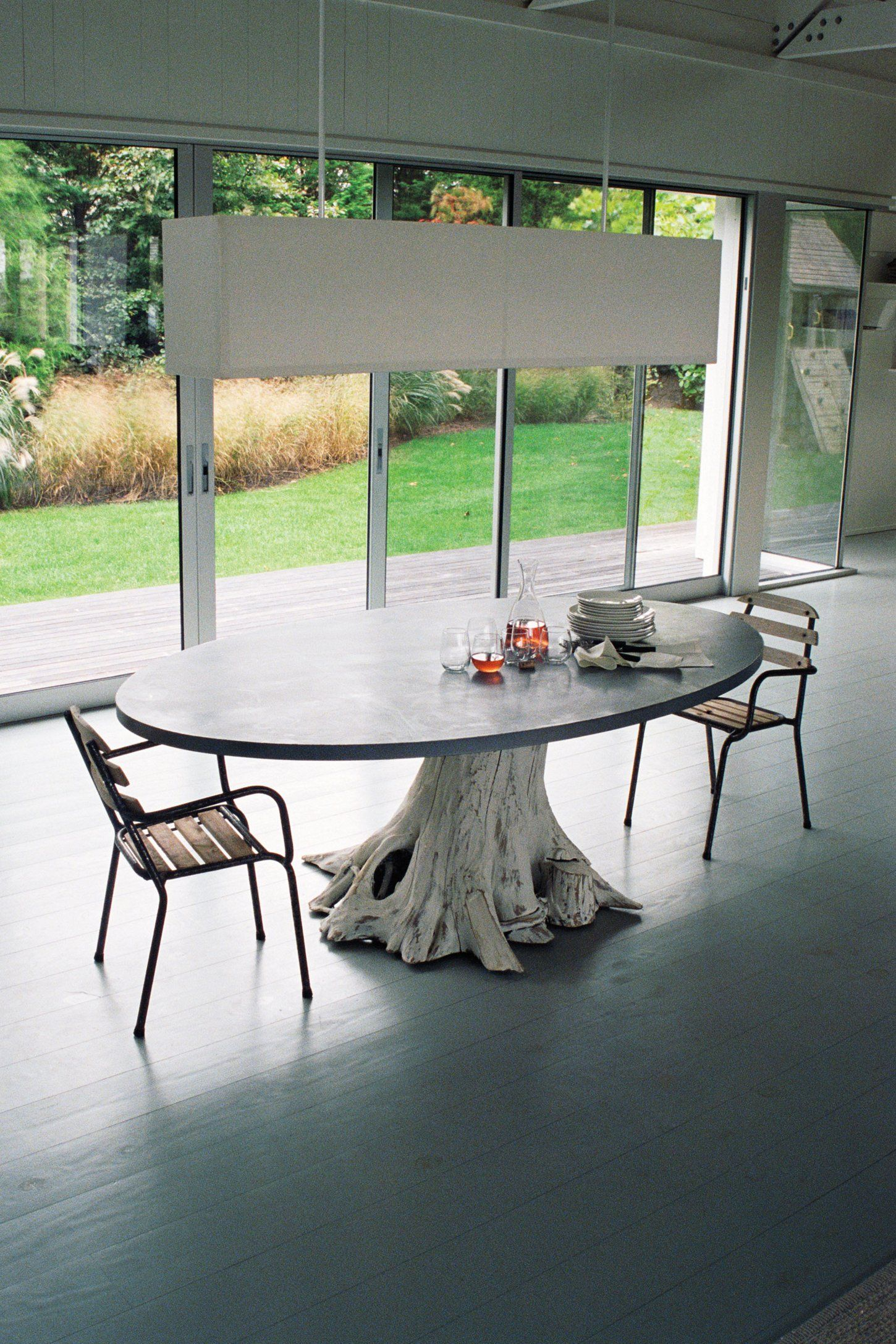 Mineral might dining table pezzi d 39 arredo pinterest for Tavolo tronco d albero