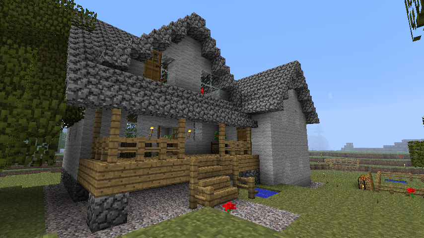 minecraft farm house designs