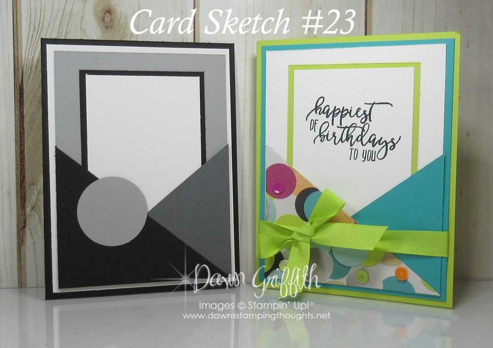 Hi Stampers, Happy Monday friends ! It's Monday and you all know what that means … It's card sketch time. Here is our weekly Card Sketch #23 This week's card sketch can be used as a pocket too. The inside panel on mine can slide out which you can add a gift card or money … #cardsketches