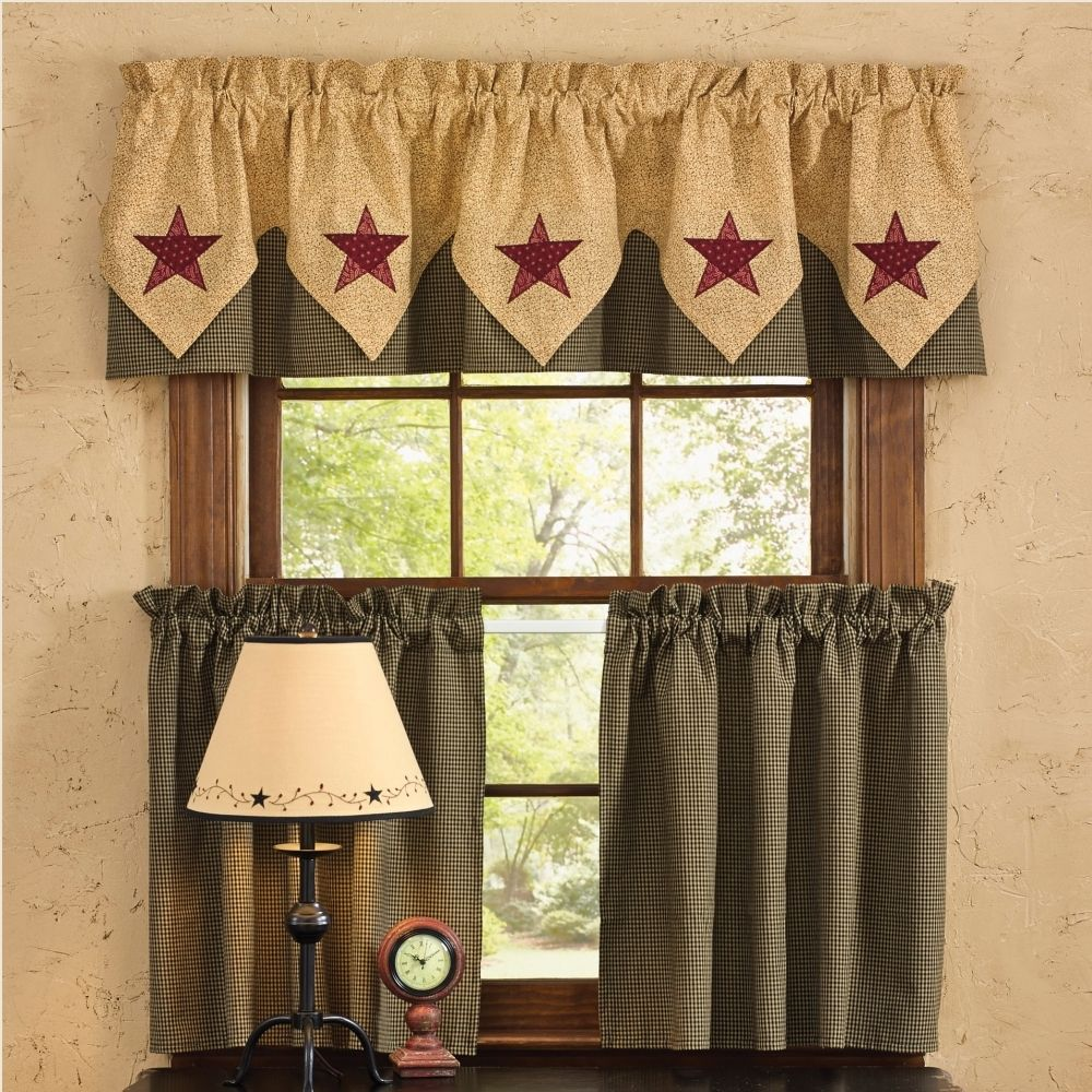 Country Point Valance Curtains Country Star Prim Decor Home Made Simple Primitive Decorating