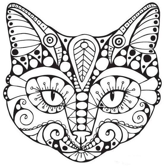 Azhurnye Trafarety Kotov Koteko Cat Coloring Page Cat Colors