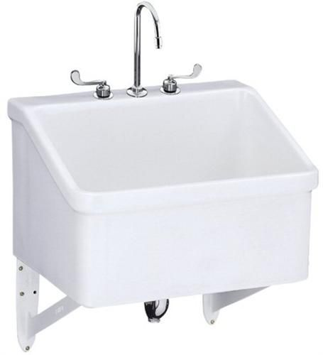 Kohler K 12794 0 Hollister Utility Sink With Three Hole Faucet