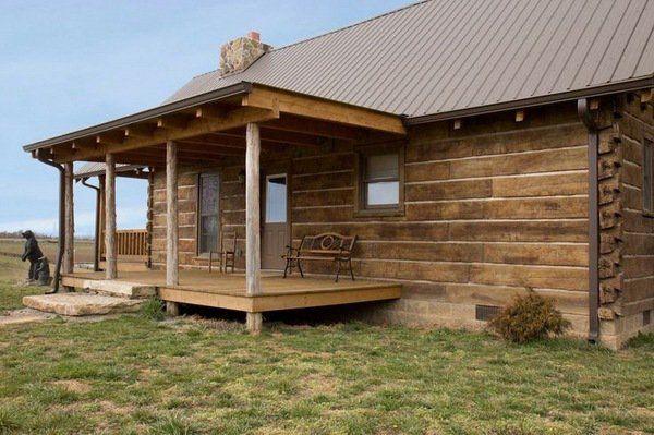 Log cabin siding wood siding vs vinyl log siding for Log siding house plans