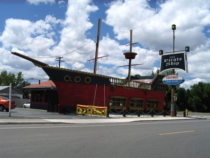 The Pirate Ship Restaurant Bar In Sparks Nv We Had To Eat There Once Pirate Ship Reno Restaurants Reno Tahoe