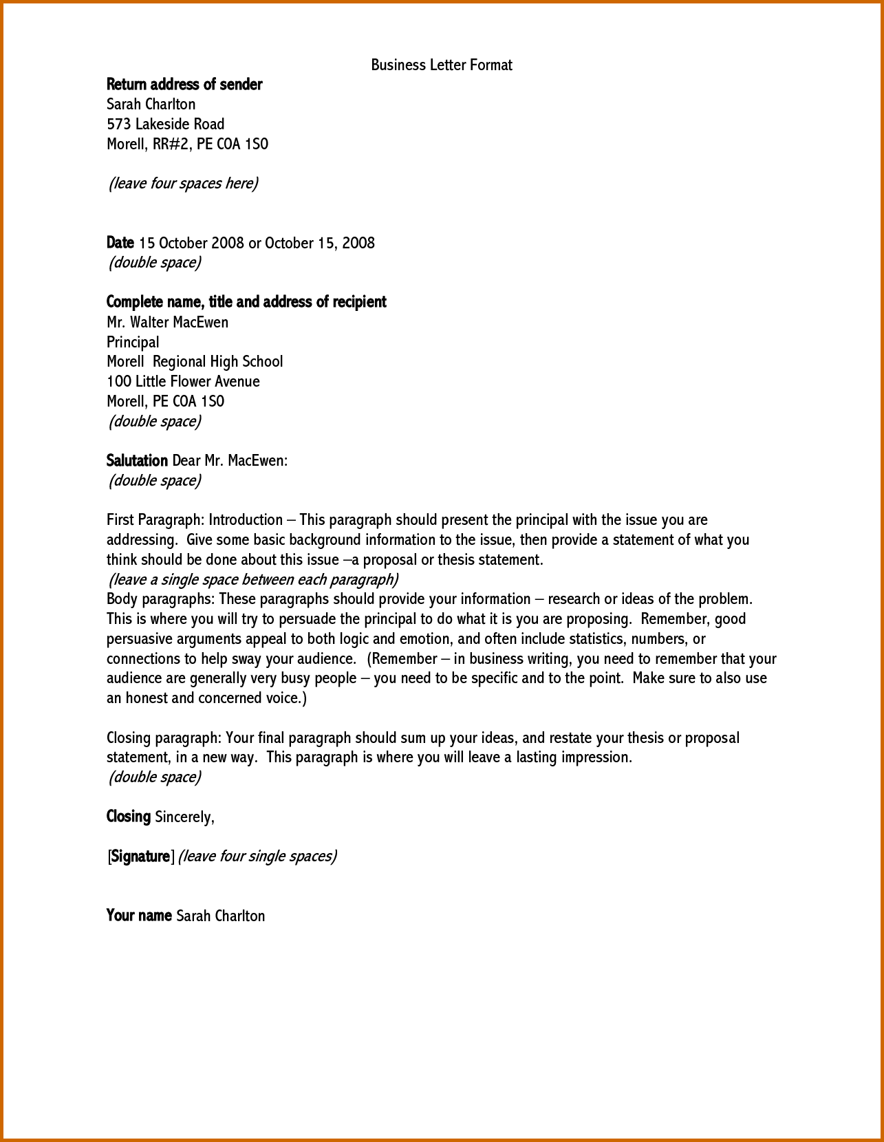 How Write Formal Letter Address Lease Template And Optionally