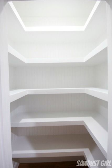 Hall Closet With Floating Shelves For My Big