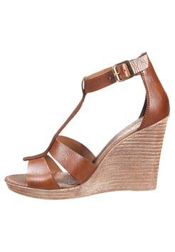 8730e2de3ad Zign - Sandalen met hoge hak - cognac | schoenen !!! - High heels ...