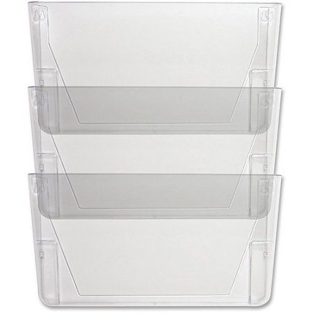 Sparco Stak A File Vertical Filing Systems Height X Width Depth Wall Mountable Clear 3 Pack By Office Depot Officemax