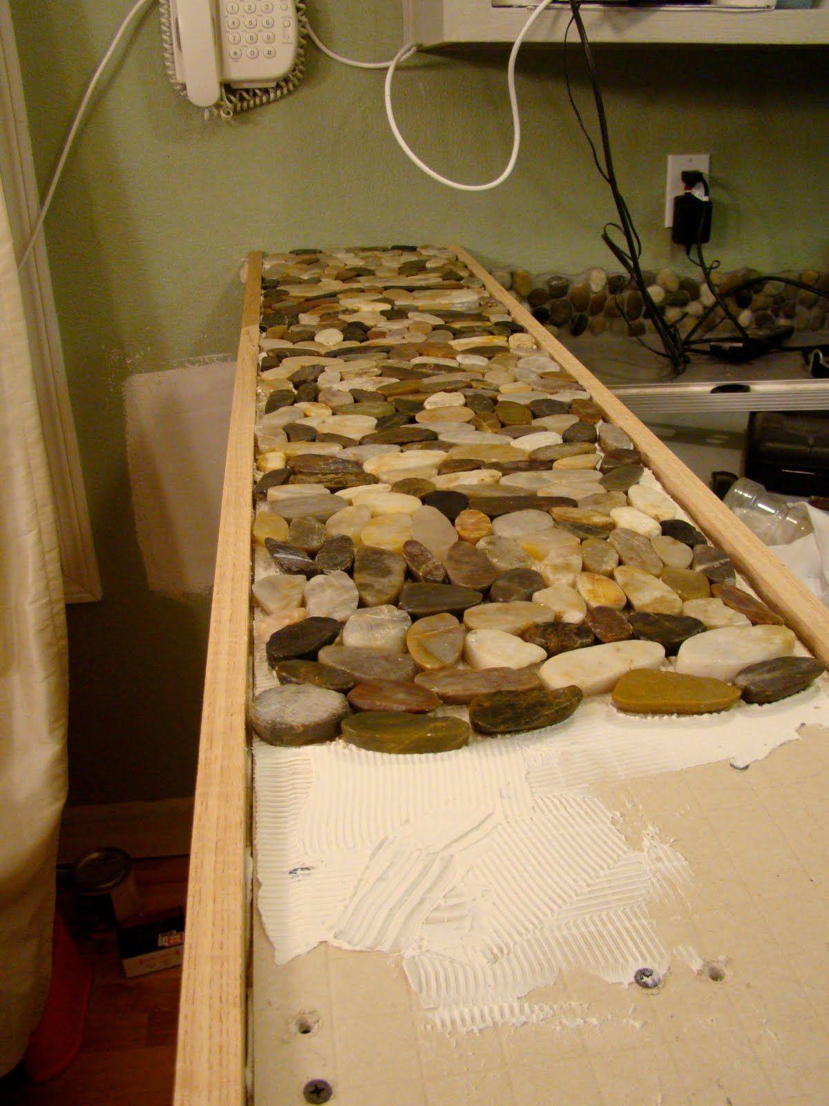Resin Wood Table Rocks Amp