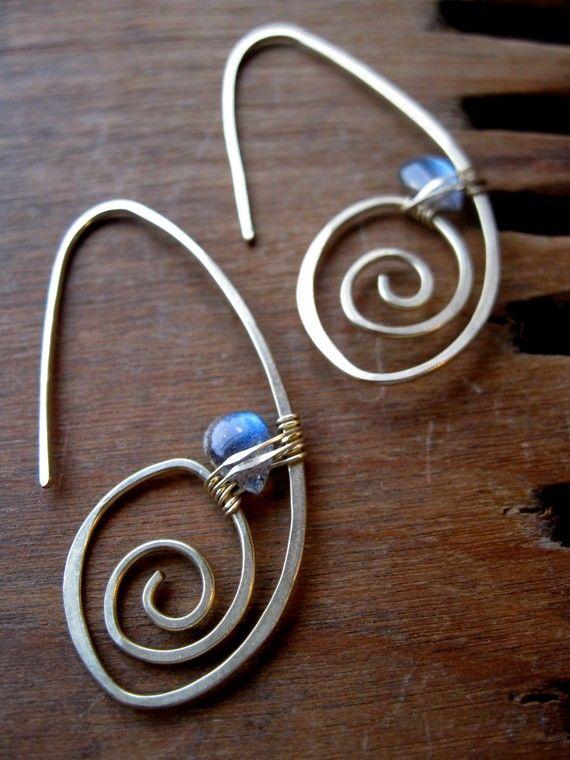 Labradorite 14k Gold Filled Earrings by julianamarquis on Etsy