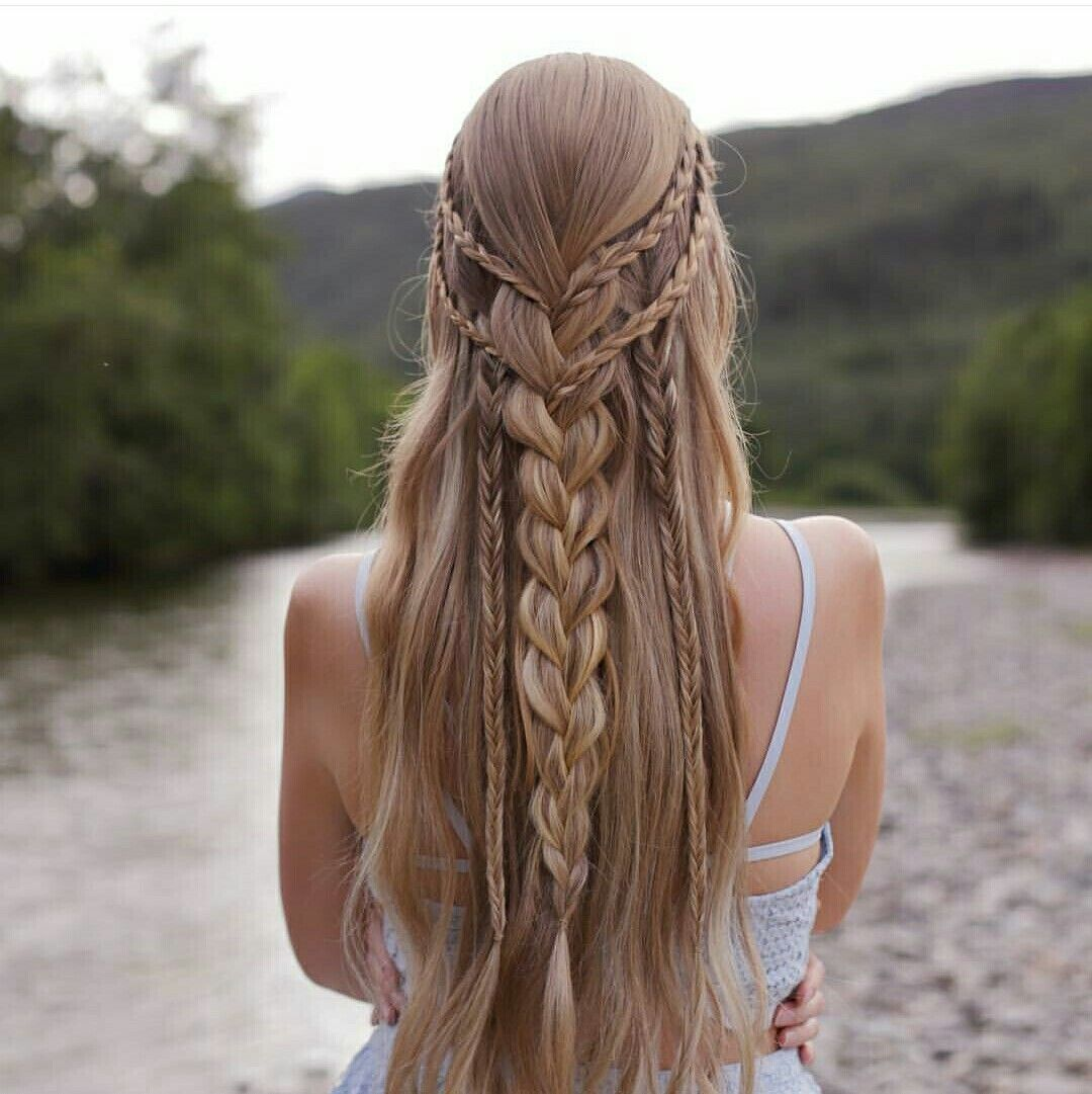 15 Easy Hairstyles For Long Thick Hair To Make You Want Short Hair With Images Khaleesi Hair Effortless Hairstyles Womens Hairstyles