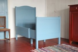 Antiek blauw Zweeds kinder-meegroei-bed
