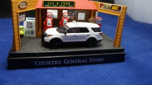 Greenlight Hot Pursuit 1:64 Unmarked Police Interceptor SUV FORD Sheriff Highway State Patrol Etc White Boxed limited to 1/500 1:64 Diecast Produced in this unheard of short run by GL Perfect for customs and collectors a like