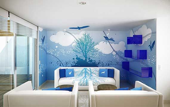 Paint Design Ideas room wall paint stickers decals decorating designs ideas asian paint Bedroom Paint Ideas83185 At Okdesigninteriorcom Sterling Tips