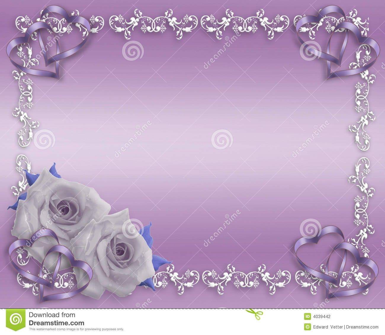 Purple Rose Border Lavender Valentine Or Anniversary