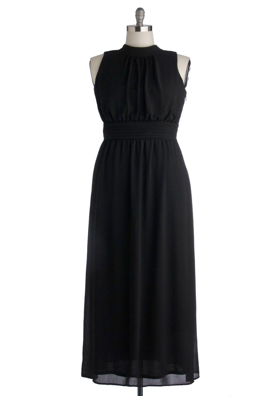 Windy City Maxi Dress in Black | Mod Retro Vintage Dresses | ModCloth.com