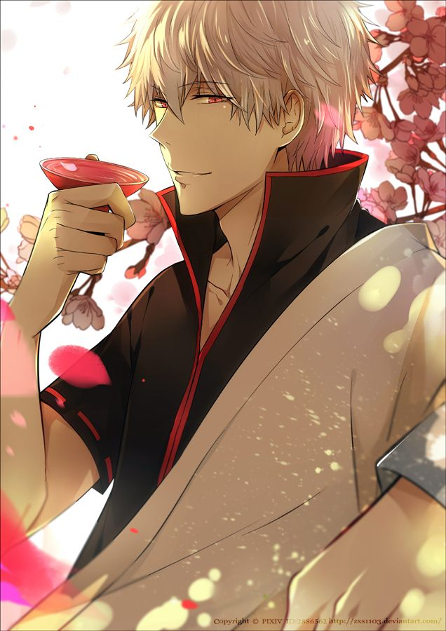 Is Anyone Else Drooling No Just Me Well Okay It Looks Like Gintoki Can Do That To A Girl Gintama Personnages Masculins Dessin Manga