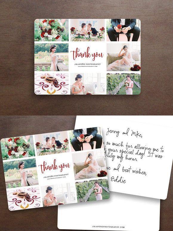 Photoshop. Moon/&Sun Printable Easy Editing Beautiful Thank You Card Templates