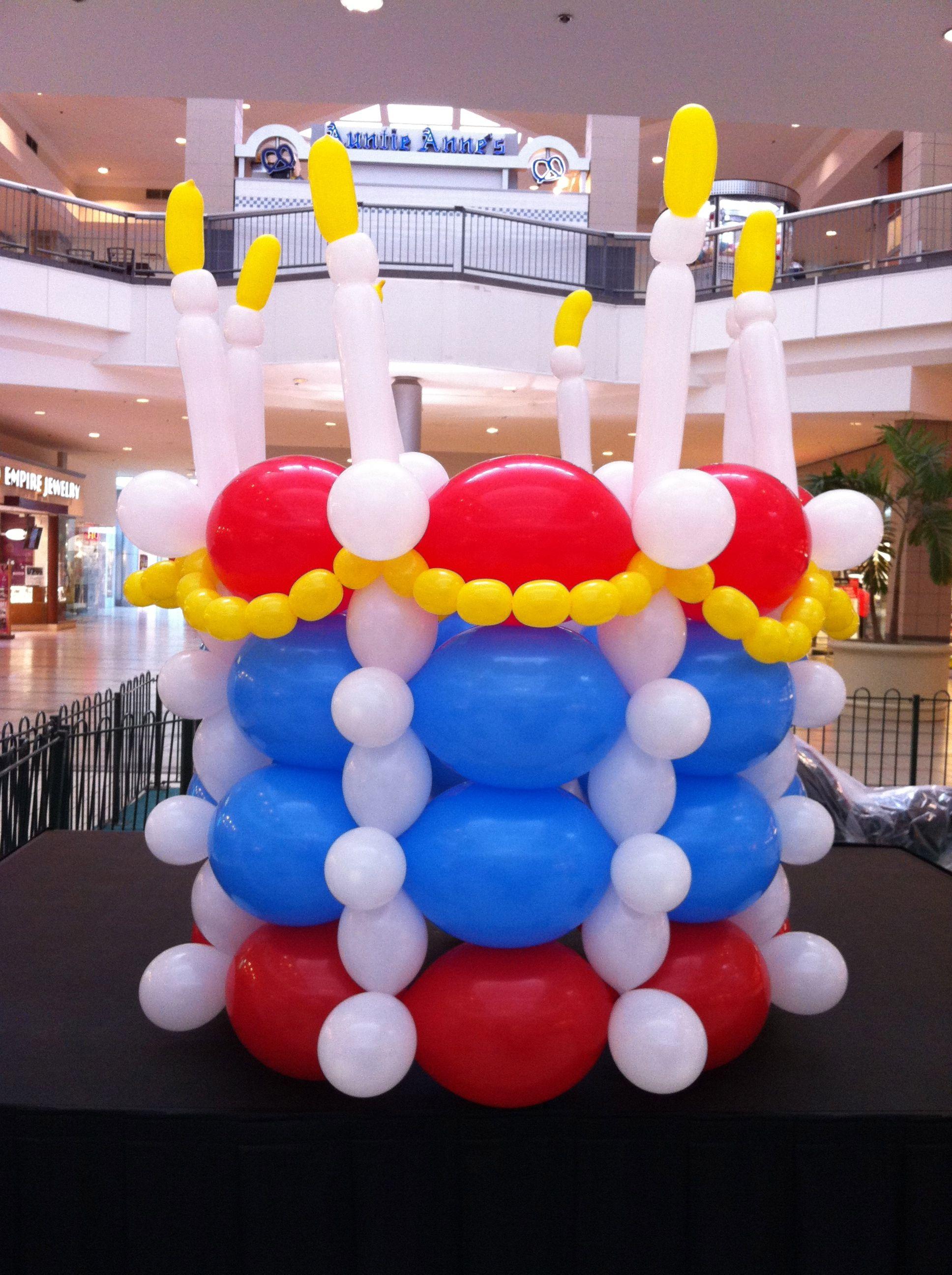 balloon decorating - Giant Balloon Birthday Cake1936x...